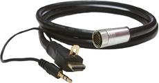 Bild von ICD1.8HDMIA | 1.8m Installationsadapterkabel digital flex 19pol. auf HDMI Stecker mit 3.5mm Audiokabel