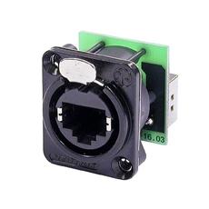 Bild von NE8FDP-B | etherCON Einbaubuchse (Paneldurchf.) schwarz, 2x E-SCREW