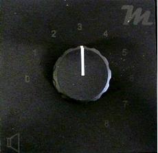 Bild von LS100R UP EDIZIO sw | UP-Lautstärkesteller 100 Watt | 100 Volt mit 24V Pflichtempfangsrelais in schwarz