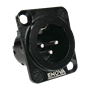 Bild von XL13MB   XLR male Chassis 3 PIN Black Solder
