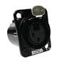 Bild von XL13FB | XLR female Chassis 3 PIN Black Solder