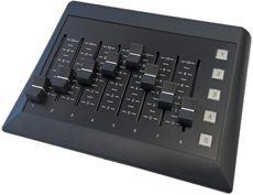 Bild von ARVIGOmoto | Networkable Desktop 8-channel Motor Fader remote level controller, 5 Buttons
