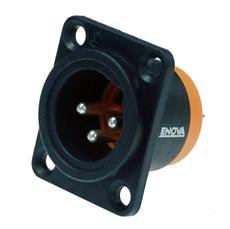 Bild von XL13MB-W | XLR male Chassis 3 PIN IP67 Black Solder
