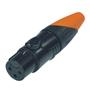 Bild von XL23FB-W | XLR female 3 PIN IP67 Black Housing  & Orange Boot Solder