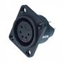 Bild von XL15FB-W | XLR female Chassis 5 PIN IP67 Black Solder