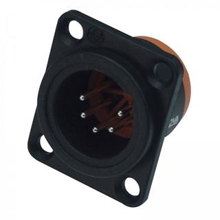 Bild von XL15MB-W | XLR male Chassis 5 PIN IP67 Black Solder