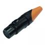Bild von XL25FB-W | XLR female 5 PIN IP67 Black Housing  & Orange Boot Solder