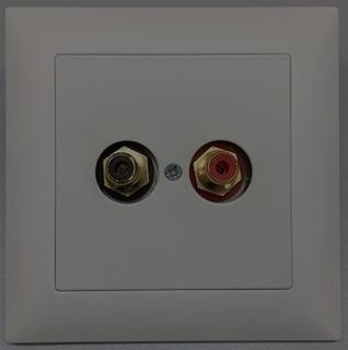 Bild von UP 2CINCH S sw   Unterputzrahmen EDIZIOdue mit 2x Cinch Buchsen symmetrisch, schwarz