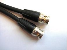 Bild von HDTV08L3715RT | 15m HDTV 0.8L/3.7 Dz DMC Flex PVC beidseitig konfektioniert mit Neutrik BNC Rear Twist, schwarze Tüllen