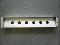 """Bild von proPANEL Z DSR   19"""" Panel Z-Form für 6x Triax Einbaustecker (DSR), 2HE, farblos matt eloxiert"""
