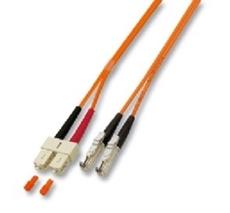 Bild von LWL_PD2FSMAE2SCD | _m Patchkabel 2 Fasern single mode 9/125µm APC, Doppelmantel, konfektioniert mit 2x E2000 auf SC-Duplex Stecker
