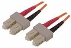 Bild von LWL_PD2FMM3SCD | _m Patchkabel 2 Fasern multi mode OM3 50/125µm, Doppelmantel, konfektioniert mit SC-Duplex Stecker je Seite