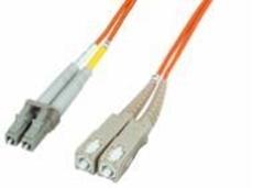 Bild von LWL_PD2FMM3LCDSCD | _m Patchkabel 2 Fasern multi mode OM3 50/125µm, Doppelmantel, konfektioniert mit LC-Duplex Stecker / SC-Duplex Stecker
