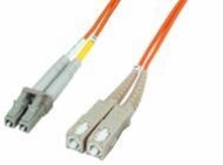 Bild von LWL_PD2FMM3LCDSCD   _m Patchkabel 2 Fasern multi mode OM3 50/125µm, Doppelmantel, konfektioniert mit LC-Duplex Stecker / SC-Duplex Stecker