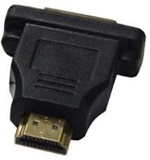 Bild von HDMIMDVIF | HDMI Stecker male - DVI-I Kupplung female Adapter vergoldet