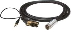 Bild von ICD1.8DVIA | 1.8m Installationsadapterkabel digital flex 19pol. auf DVI Stecker mit 3.5mm Audiokabel