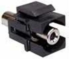 Bild von KST 3.5 sw | Keystone 3.5mm Klinkenbuchse stereo Durchführung f/f schwarz