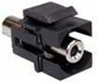 Bild von KST 3.5 sw   Keystone 3.5mm Klinkenbuchse stereo Durchführung f/f schwarz