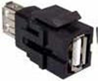 Bild von KST USB A sw   Keystone USB A Durchführung f/f schwarz