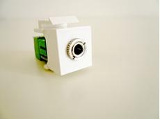 Bild von KST 3.5 SK ws | Keystone 3.5mm Klinkenbuchse stereo Schraubklemme 3pol weiss