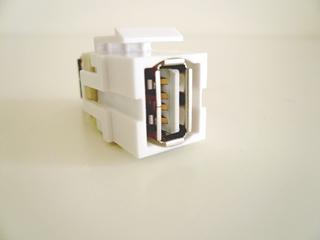 Bild von KST USB A ws | Keystone USB A Durchführung f/f weiss