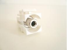 Bild von KST 3.5 ws | Keystone 3.5mm Klinkenbuchse stereo Durchführung f/f weiss