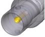 Bild von NBB75DFGX   BNC UHD Einbaubuchse im Antraloy beschichteten D-Gehäuse, Durchführung, geerdet