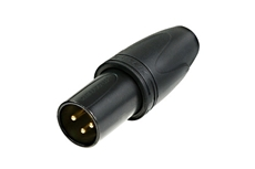 Bild von NC3MXX-HD-B-D   XLR 3pol. male, schwarzes Gehäuse, Gold Kontakte, spritzwasserdicht nach IP67