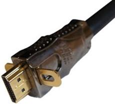 Bild von HDMI25HSX | 25m HDMI flex Kabel 1.4 Highspeed Ethernet mit einklappbaren Befestigungslaschen