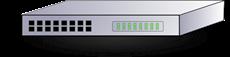 Bild von SWITCH26POE | 24+2 Port (PoE+) managed Gigabit Switch