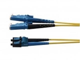 Bild von LWL_PD2FSMAE2LCD   _m Patchkabel 2 Fasern single mode 9/125µm APC, Doppelmantel, konfektioniert mit 2xE2000 auf LC-Duplex Stecker