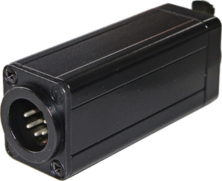Bild von DMX-CAT5-M | In-line DMX-Adapter mit RJ45 Cat.5 auf 5-poligem XLR-Einbaustecker