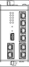 Bild von SWITCH7POE DC | 5+2 Port (PoE+) managed Gigabit Industrie Ringswitch mit 2x 24-57VDC redundant und SD Karte