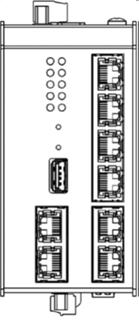 Bild von SWITCH7POE DC   5+2 Port (PoE+) managed Gigabit Industrie Ringswitch mit 2x 24-57VDC redundant und SD Karte