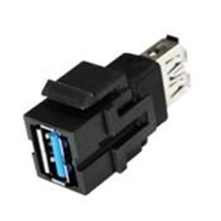 Bild von KST USB3 A sw | Keystone USB 3.0 A Durchführung f/f schwarz